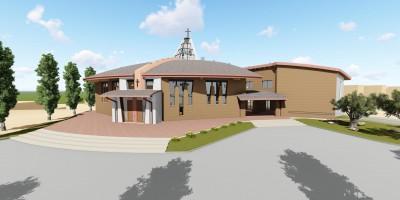 Progetto esterno chiesa San Pio Marotta