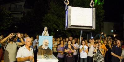 Collocazione prima pietra chiesa San Pio Marotta