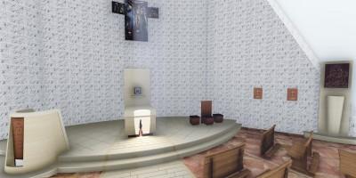 Progetto interno chiesa San Pio Marotta